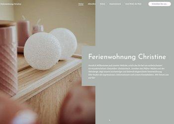Webseite unserer Ferienwohnung Christine